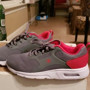 Boy's Champion Sneakers - Gray and Red